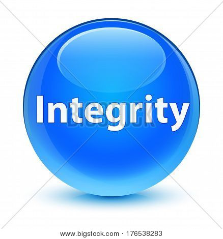 Integrity Glassy Cyan Blue Round Button