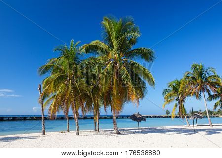 On the beach Playa Giron Cuba. This beach is famous for its role during the Bay of Pigs invasion.