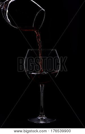Wineglasses With Wine Isolated On Black Background