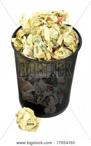 Full Trash Basket