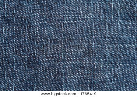 Close up of blue jeans denim texture background poster