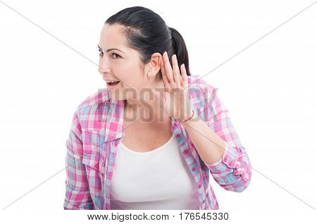 Picture Of Young Woman Listening Gossip