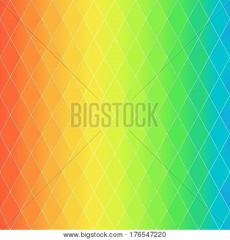 Pattern of Symmetric Rhombuses Summer Sea Colors Continuous to Up and to Down. Universal Bright Abstract Background of Geometric Figures.