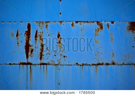 Blue Metal With Rust