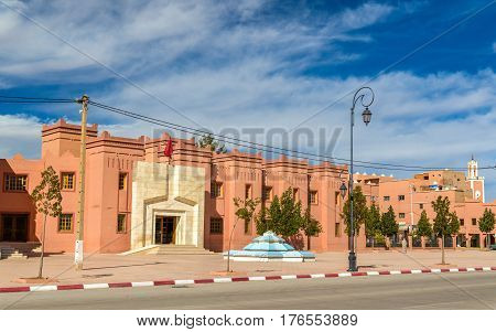 Buildings in Kalaat M'Gouna, a town in the Valley of Roses, Morocco
