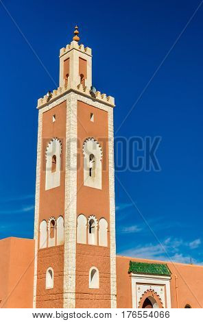 El Abdellaoui Mosque in Kalaat M'Gouna, a town in the Valley of Roses, Morocco