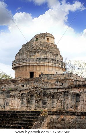 Caracol Mayan observatory Chichen Itza Mexico Yucatan