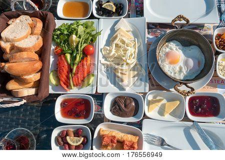 Turkish Breakfast On A Table