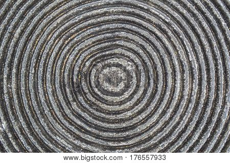 Carving stone texture. Round carve stone for surface background.