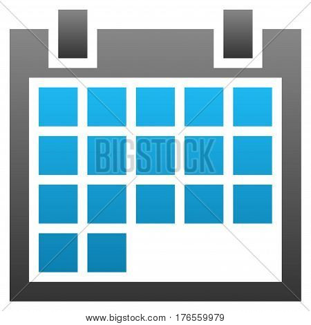 Calendar vector icon. Flat symbol with gradient. Pictogram is isolated on a white background. Designed for web and software interfaces.