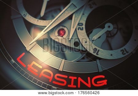 Leasing on the Automatic Pocket Watch, Chronograph Closeup. Leasing on Automatic Wristwatch Detail, Chronograph Up Close. Time and Business Concept with Lens Flare. 3D Rendering.