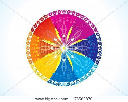 abstract artistic colorful rainbow circle vector illustration
