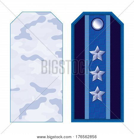 Blue Military Shoulder Straps