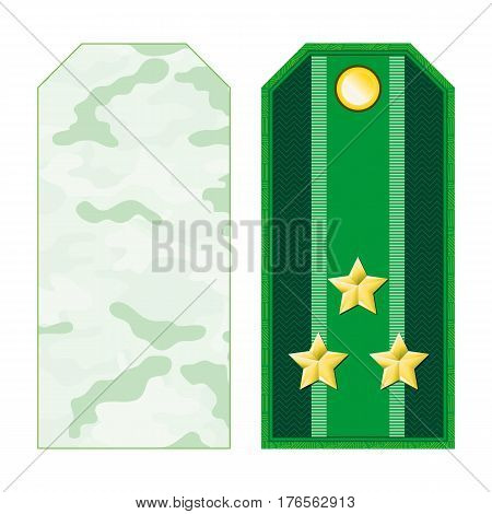 Green Military Shoulder Straps