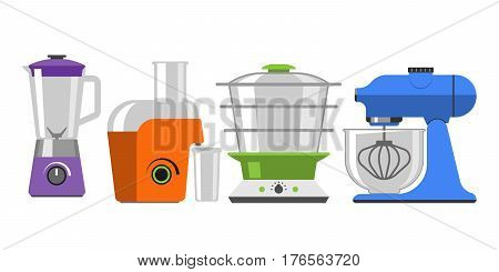 Electrical hand mixer dishware isolated vector illustration kitchenware appliance hot symbol electric tool domestic cooking stove household technology. Cooking blend metal household electronic.