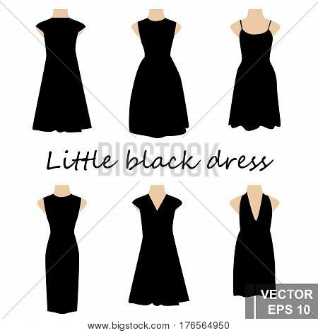 Set. Little Black Dress. For Your Design.