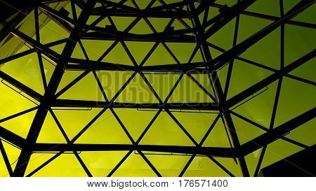 roof of moden buildings and glass background