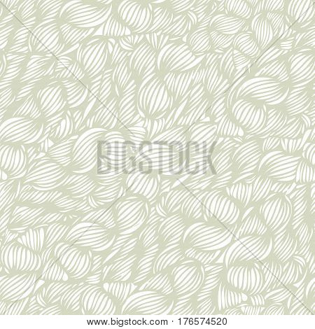 Vector Seamless Wave Doodle Hand Drawn Pattern. Can Be Used For Wallpaper, Pattern Fills, Print And