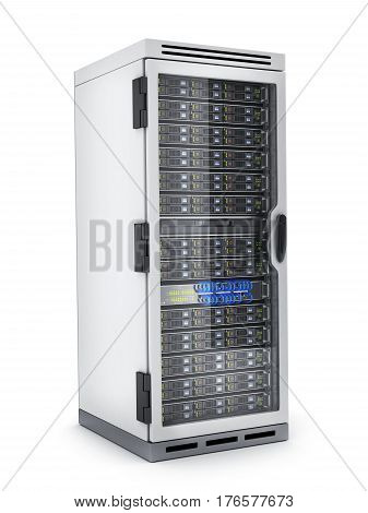 Power modern server only isolated. 3d illustration