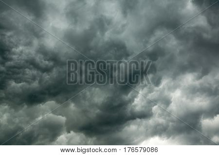 dark storm clouds in the sky before the storm
