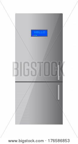 Fridge isolated on white background. Vector illustration