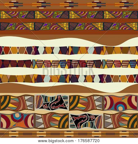 Seamless texture of African. Bright pattern in ethno style.