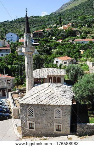 Start Bar, Montenegro - 28 June 2014: The mosque of Stari Bar on Montenegro