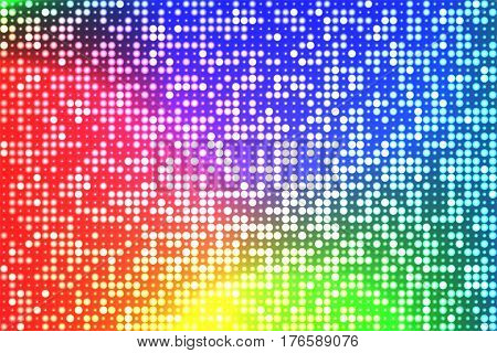 Abstract techno background. Shining holographic foil with round pattern. Hipster card. Digital Wallpapers. Vector illustration.