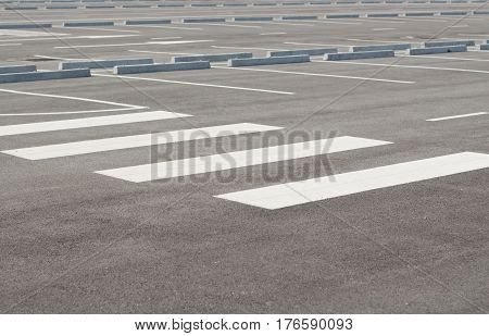Car parking lot with white mark. Empty space.