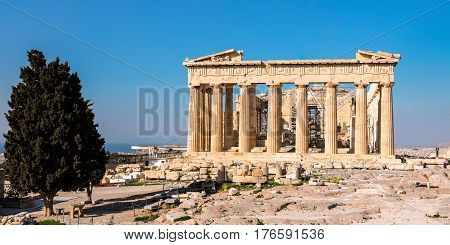 Parthenon Temple, Acropolis In Athens, Greece.