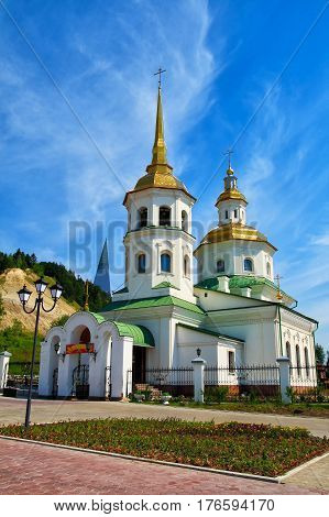 Russia, Khanty-Mansiysk, the Church of the Protection of the Holy Virgin in Samarovo