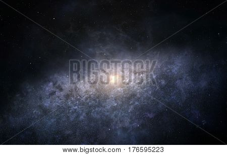 Illustration of Milky Way galaxy as seen from the edge