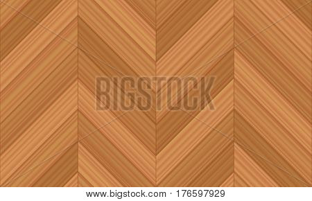 Chevron parquet - vector illustration of herringbone pattern version with straight line edges - seamless extensible in all directions.