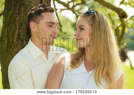 Happy Couple Having Romantic Date In Park