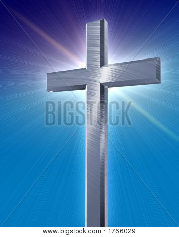 Silver Cross With Flare