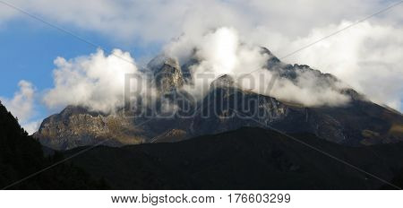 Sacred mountain Khumbi Yul Lha Everest National Park Nepal.