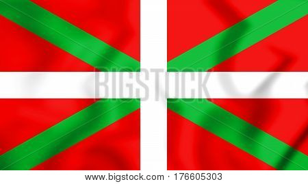 3D Flag Of The Basque Country. 3D Illustration.