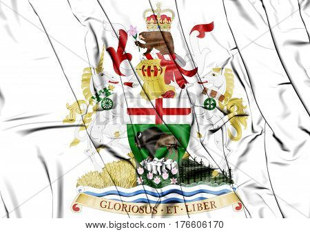 Manitoba Coat Of Arms, Canada. 3D Illustration.