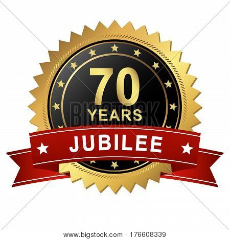Jubilee Button With Banner - 70 Years