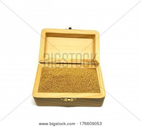 heap of amaranth seeds isolated on white background