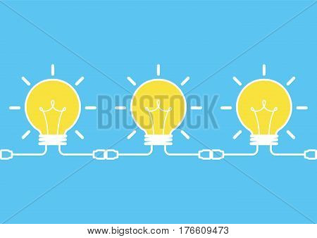 idea brainstorm concept, creative idea, business brainstorm concept, share idea concept with light bulb, creative design, vector illustration
