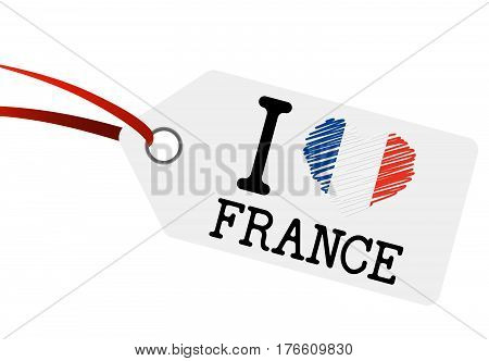 Hangtag With Text I Love France