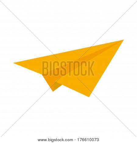 paperplane icon over white background. colorful design. vector illustration