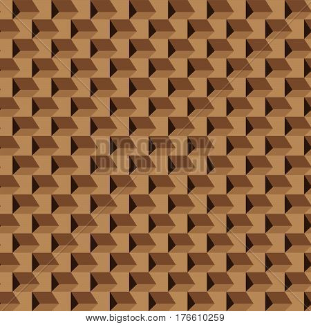 Abstract seamless brown pattern, opt art. Swatch is included in vector file.
