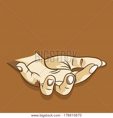 men empty open hand sharing or begging something concept design