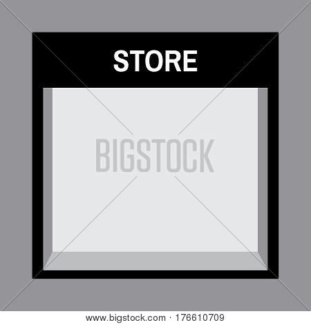 Shop front or store front view illustration. Store front mock up with sale sign
