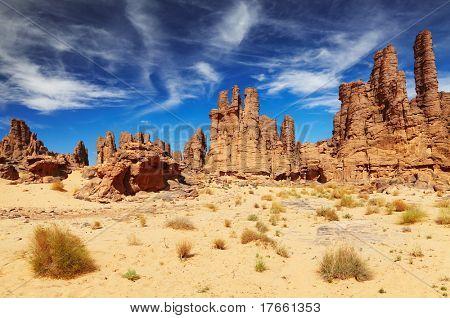 Rocks of Sahara Desert, Tassili N'Ajjer, Algeria