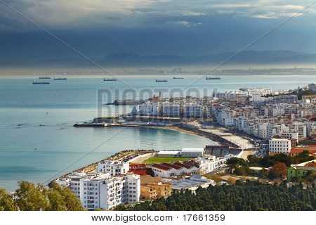 Algiers the capital city of Algeria, Northern Africa poster