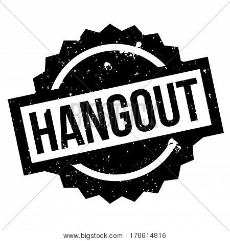 Hangout rubber stamp. Grunge design with dust scratches. Effects can be easily removed for a clean, crisp look. Color is easily changed.