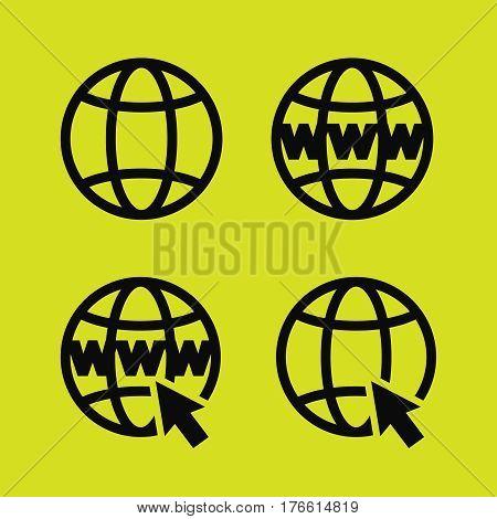Go to web icons set illustration. Go to web black logo